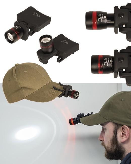 2237d5a1e Mil-tec LED CREE čelovka na šiltovku, čierna | ArmyMarket