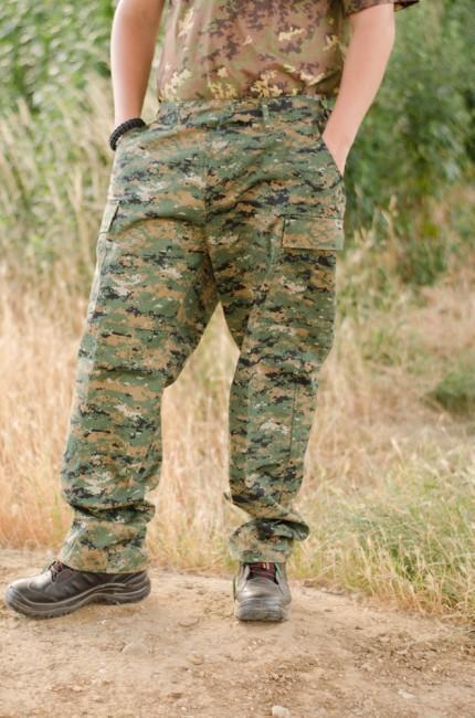 mfh bdu  MFH BDU pánske nohavice Rip-Stop digital woodland | ArmyMarket