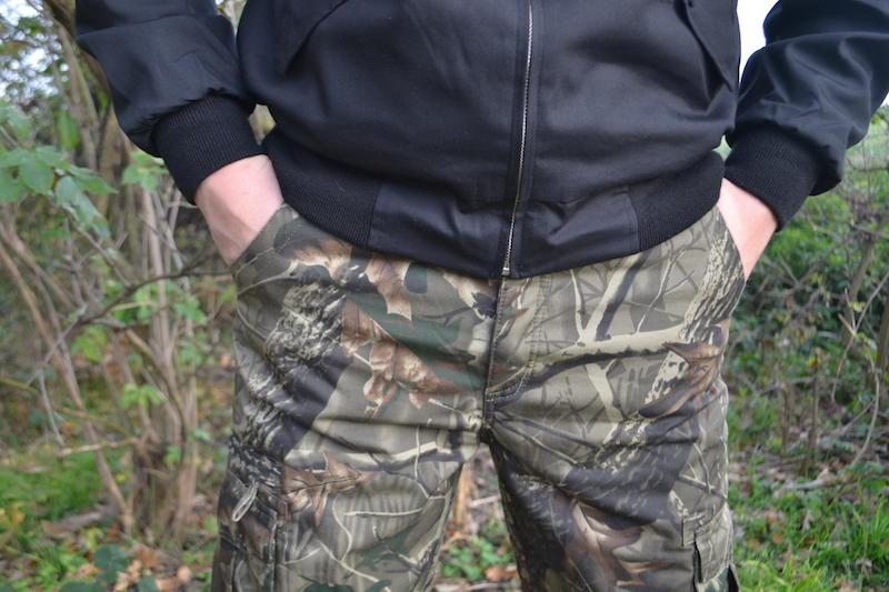 4d373e40a750 Loshan Leafy pánske zateplené nohavice vzor Real tree tmavé