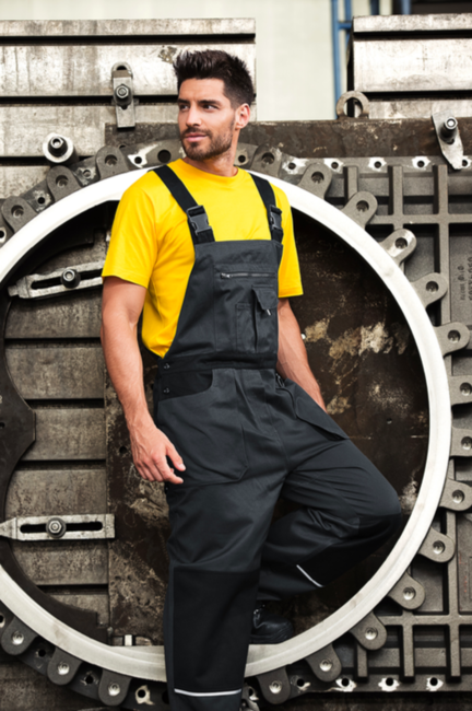 dc54514bc60b Rimeck Woody pánske pracovné nohavice na traky