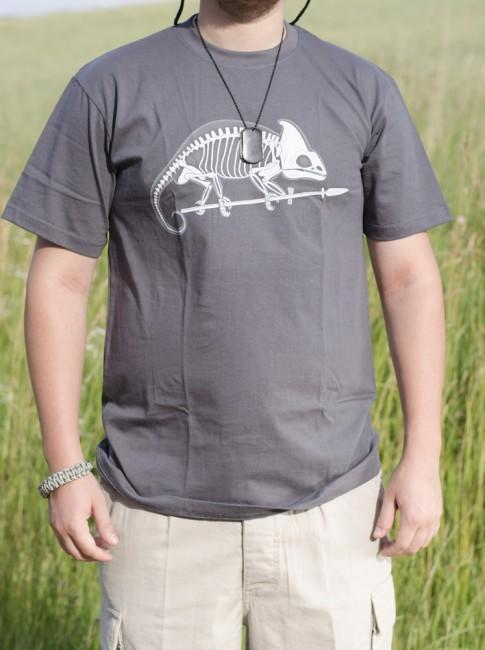 3bef2d5a9bb2f Helikon-Tex krátke tričko chameleón sivé | ArmyMarket