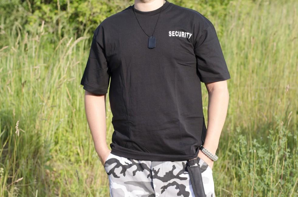 bf7d946c6ec1 MFH tričko s nápisom security čierne