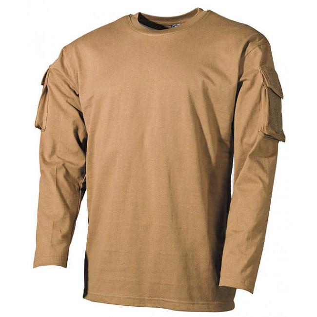 4b29ae3de5ed pozerá 201 návštevníkov MFH US Coyote dlhé tričko s velcro vreckami na  rukávoch