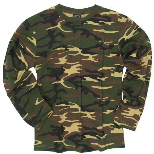 7a035810d ... Mil-tec bavlnené tričko s dlhým rukávom, woodland zväčšiť obrázok