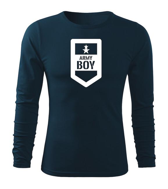 2d86cceec ... O&T Fit-T tričko s dlhým rukávom army boy, tmavomodrá 160g/m2 zväčšiť  obrázok