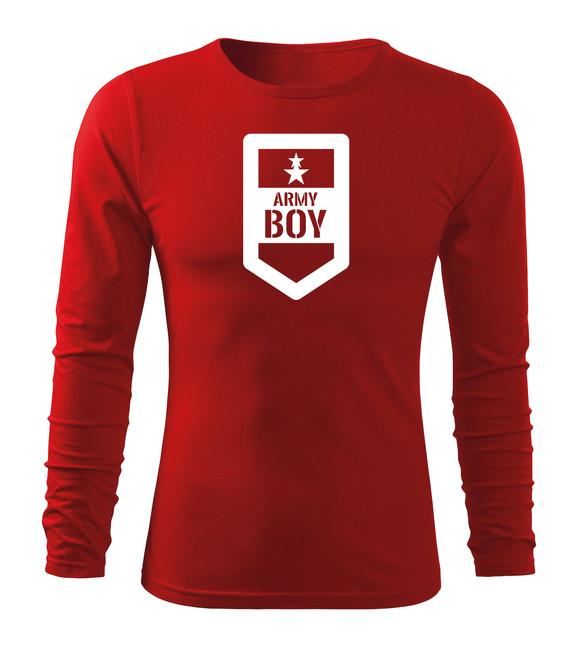 272fa3d6b ... O&T Fit-T tričko s dlhým rukávom army boy, červená 160g/m2 zväčšiť  obrázok