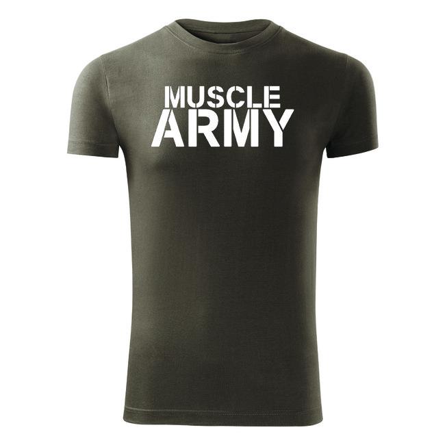 fd67845e8d27 pozerajú 3 návštevníci O T fitness tričko muscle army