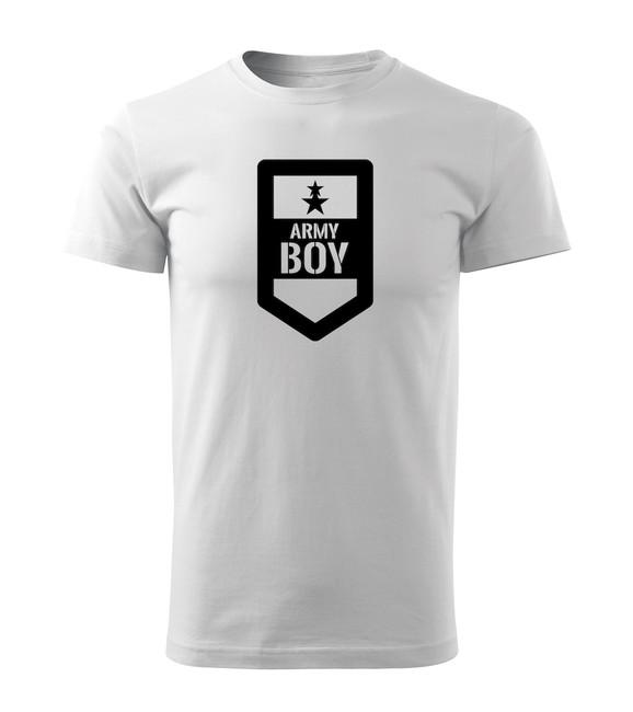 4e76328bc ... O&T krátke tričko army boy, biela 160g/m2 zväčšiť obrázok