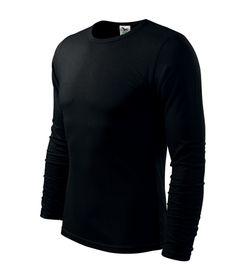 Adler Fit-T tričko s dlhým rukávom, čierne, 160g/m2