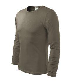 Adler Fit-T tričko s dlhým rukávom, farba army, 160g/m2