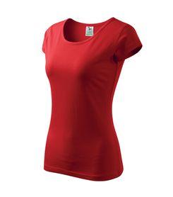 Adler Pure dámske tričko, červené, 150g/m2