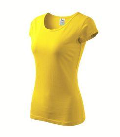 Adler Pure dámske tričko, žlté, 150g/m2