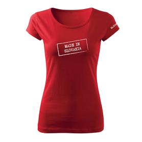 O&T dámske tričko made in slovakia, červená 150g/m2
