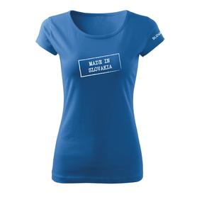 O&T dámske tričko made in slovakia, modrá 150g/m2