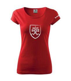 Adler tričko dámske so Slovenským znakom červené