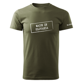 O&T krátke tričko made in slovakia, olivová 160g/m2