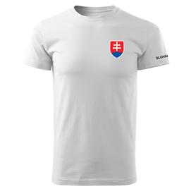 O&T krátke tričko malý farebný slovenský znak, biela 160g/m2