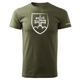 O&T krátke tričko slovenský znak, olivová 160g/m2