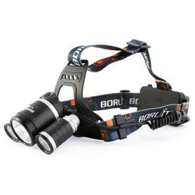 Boruit čelovka nabíjateľná 3x LED 9W