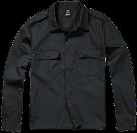 Brandit US košeľa s dlhým rukávom, čierna