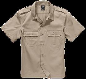 Brandit US košeľa s krátkym rukávom, bežová