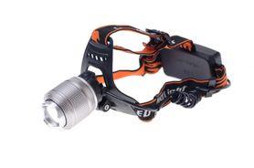 Bulk Silver LED čelovka nabíjateľná 5W biela