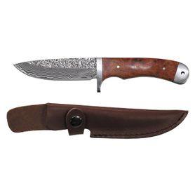 Fox Outdoor, Damaskový nôž v koženom púzdre