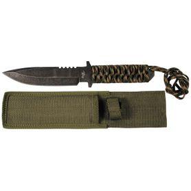 Fox Outdoor pevný nôž s Parakordom, Stonewashed