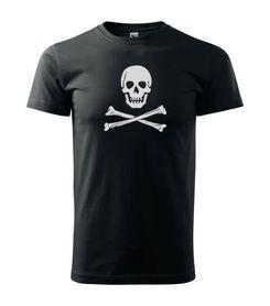 Funny vtipné tričko pirat čierne