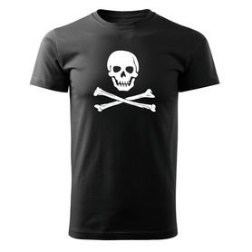 O&T krátke tričko pirat, čierna 160g/m2