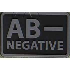 Helikon-Tex 3D PVC nášivka AB- Negative, set 2ks