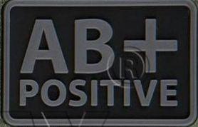 Helikon-Tex 3D PVC nášivka AB+ Positive, set 2ks