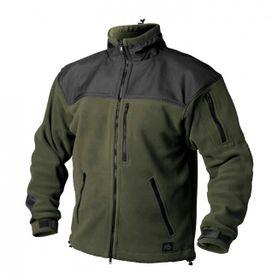 Helikon-Tex Classic Army flisová bunda spevnená olivovo-čierna, 300g/m2