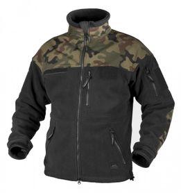 Helikon Infantry flisová bunda, čierna woodland, 330g/m2