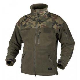 Helikon Infantry flisová bunda, olivová/woodland, 330g/m2