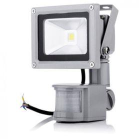 LED Outdoor vonkajší reflektor so senzorom 10W