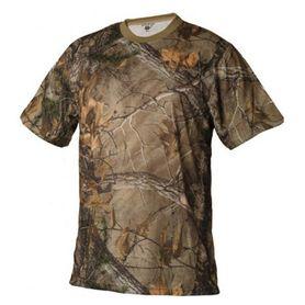 Loshan Kerry tričko, vzor Real tree hnedé
