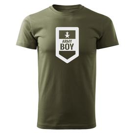 O&T krátke tričko army boy, olivová 160g/m2