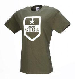 M-Tramp Army girl krátke tričko, olivové