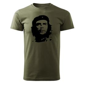 O&T krátke tričko Che Guevara, olivová 160g/m2