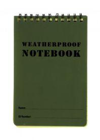 M-Tramp vodeodolný zápisník, zelený, 12 x 7.8cm