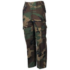 MFH BDU detské nohavice vzor woodland