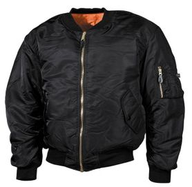 MFH Bomber pilot bunda čierna