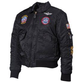 MFH CWU detská bunda bomber, čierna