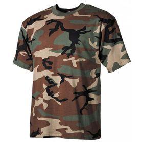MFH detské tričko vzor woodland, 160g/m2