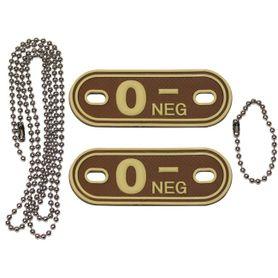 MFH Dog-Tags psie štítky 0 NEG, 3D PVC