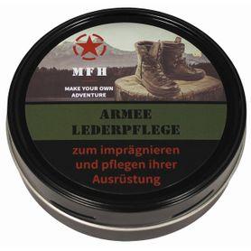 MFH Army Krém na obuv čierny 150 ml