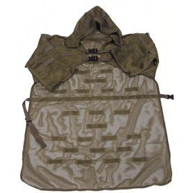 MFH maskovací plášť s pútkami a kapucňou, olivový
