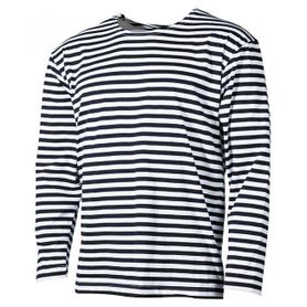MFH námornícke tričko s dlhým rukávom čierne