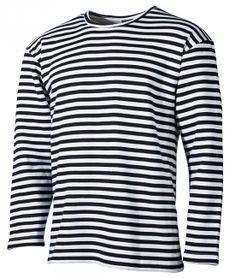 MFH námornícke tričko s dlhým rukávom čierne zimné